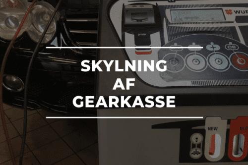 SKYLNING AF GEARKASSE