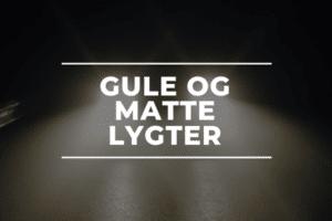 Gule og matte lygter autoværksted Sorø